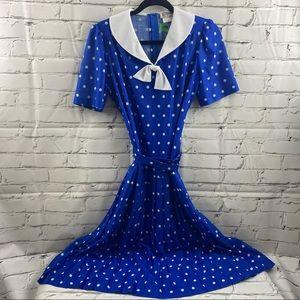 D'Allairds vintage polka dot belted dress